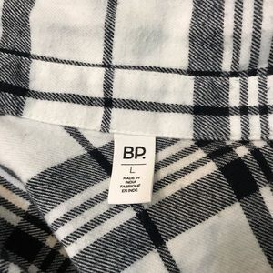 bp. Plaid flannel cropped oversized sleeves